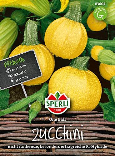 83604 Sperli Premium Zucchini Samen One Ball | Früh | Ertragreich | runde Zucchini | Zucchini Saatgut | Zucchini Rund