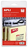 APLI 10586 - Pack de 100 colgadores autoadhesivos, 34 x 48 mm