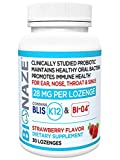 Bionaze Oral Sinus Probiotic w/BLIS K12 & BL-04 for Sinus, Ear, Nose, Mouth & Throat. Shelf Stable,...