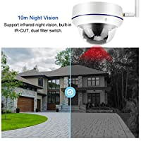 ワイヤレスWIFIカメラ64GTFカードストレージ、WiFi 802.11b / g/n用、モーション検出用(米国の100〜240V規制)