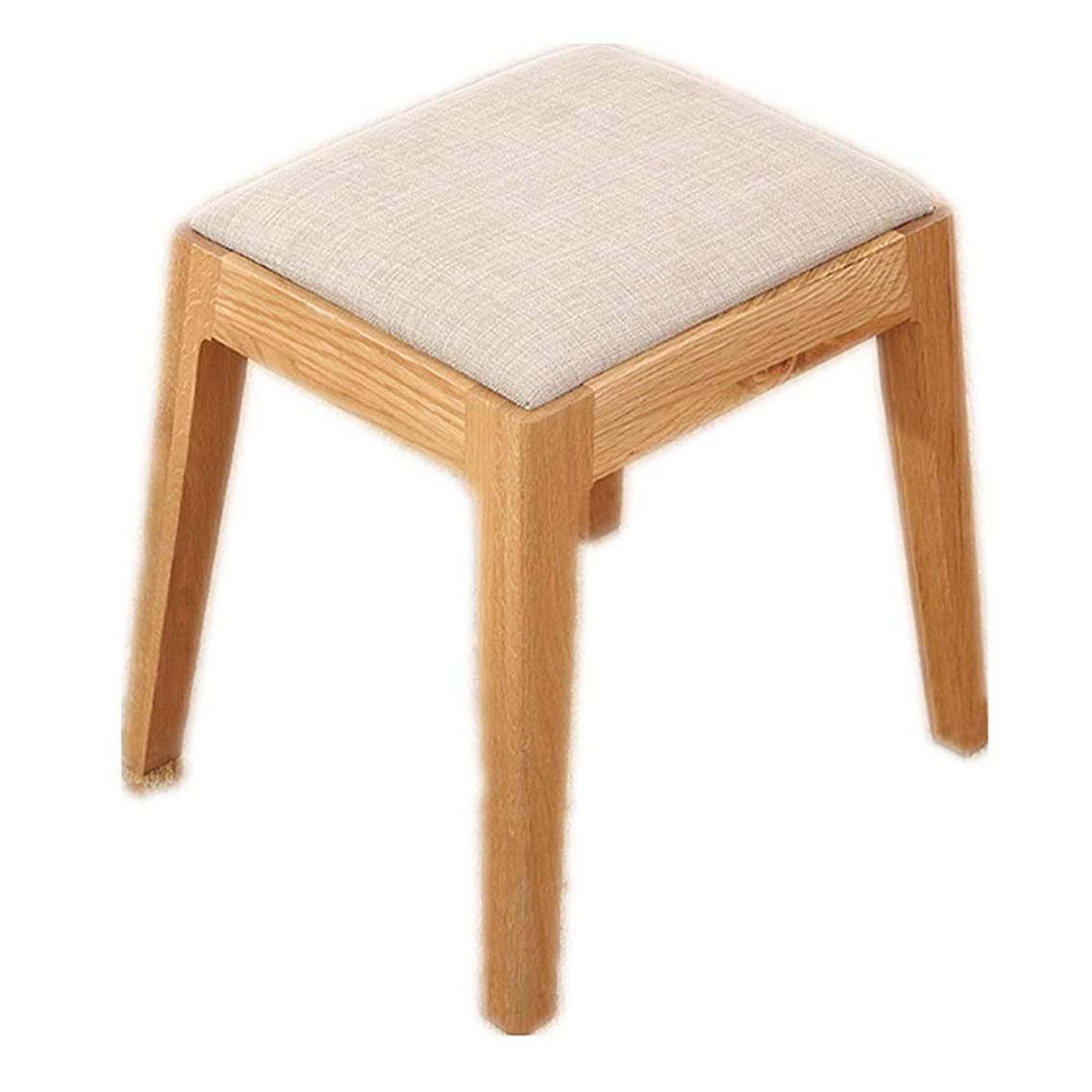 Upholstered Padded stools Family Low Square Stool Thickening Table Bench Children's Wooden Chair Or Adult Wooden Stool stools Home Living Room Bedroom ( Color : Main color , Size : 24.529.540cm )