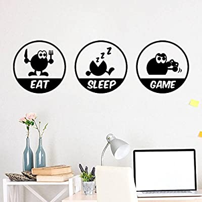 Transer DIY Eat/Sleep/Game/Repeat - Removable Wall Decal Sticker Bedroom Decoration