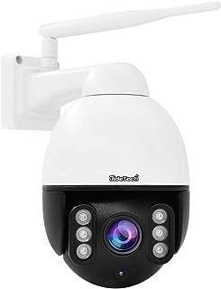 PTZ WiFi Dome IP-camera, outdoor, 5 MP bewakingscamera voor buiten, met automatische tracking, 4 x voudige optische zoom, ...