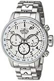 Invicta Men's S1 Rally Quartz Watch with Stainless-Steel Strap, Silver, 22 (Model: 23078)