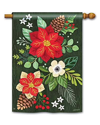BreezeArt Studio M Boho Christmas Standard House Flag Banner - Premium Quality, 28 x 40 Inches