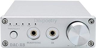 Dilvpoetry X8 APT-X Bluetooth DAC Headphone Amplifier 24bit/192kHz 1000mW/32Ω HiFi Decoder 3.5mm Output Opt/Coax/USB/AUX (...