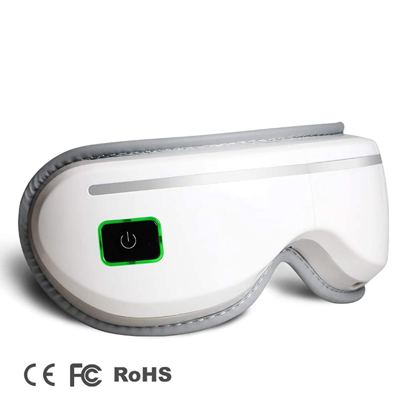 緩やかなホーン定期的アイマッサージアイマスク電気用ヘッドマッサージストレスリリーフスリーピングとともに熱音楽と空気圧縮3つのモードアイカー