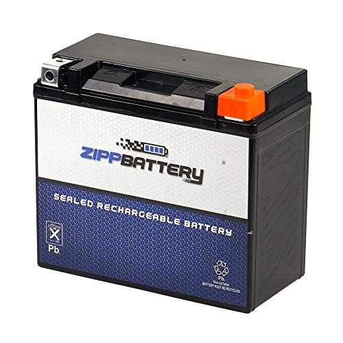 Replacement YTX20HL-BS - Rechargeable Motorcycle Battery - Factory Sealed and Activated - Maintenance Free - Zipp Battery