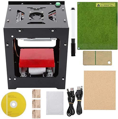 3000mW Lasergravurmaschine, Graviermaschine, Graviersticheldrucker Acryl 490x490 Pixel USB Mini Graviermaschine CNC Router Schneiden Offline Betrieb Gravierter Drucker für Holz Papier DIY Design