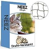 NEEZ Draht-Verstärktes Katzennetz für Balkon & Fenster 3x8m I Katzennetz