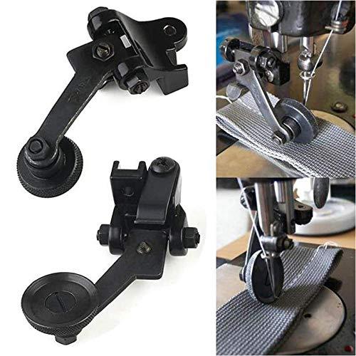 2 piezas de rodillo de prensatelas de cuero para máquina de coser,...