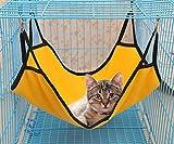 Oyccen 2 Piezas Hamaca de Gato Suave Cama Colgante de Jaula de Gatito Mascota Jaula Hamacas para Hurón Conejo Pequeños Animales