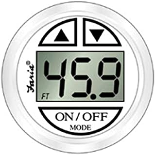 Faria 13151 Dress White Depth Sounder with In-Hull Transducer