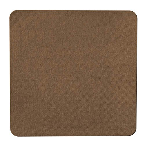 House, Home and More Skid-Resistant Carpet Indoor Area Rug Floor Mat - Toffee Brown - 3 Feet X 3 Feet