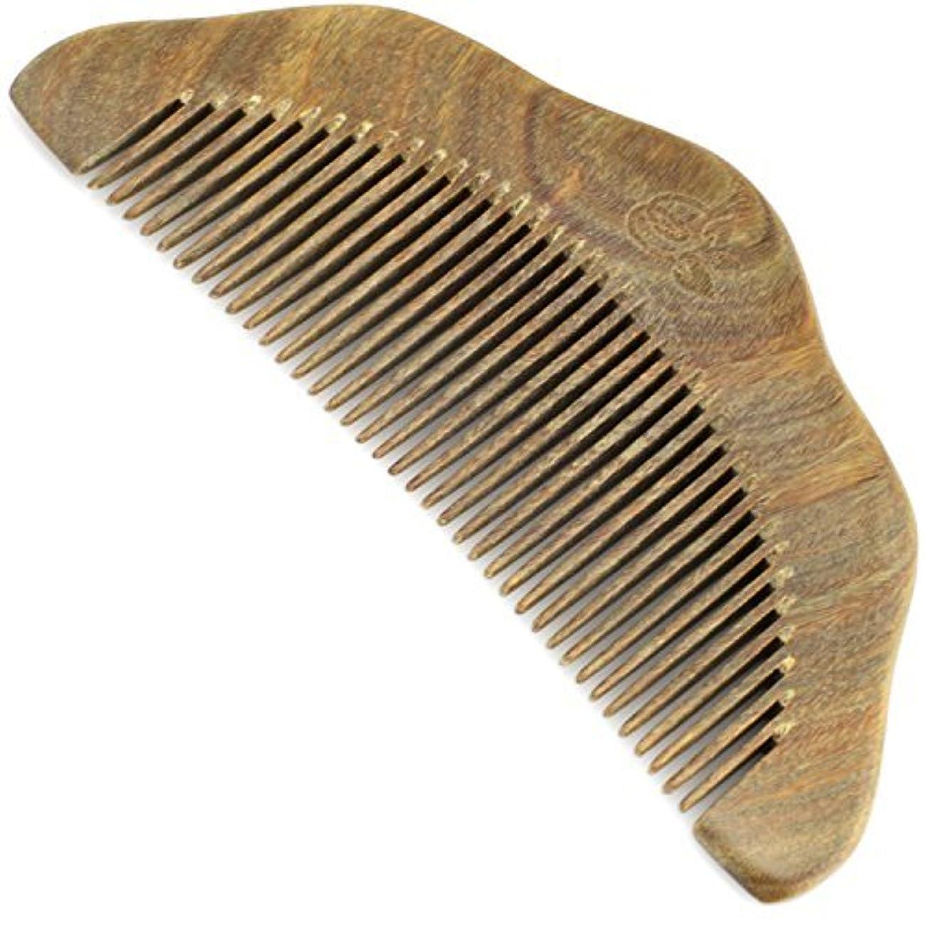 テキストボウリング弱いEvolatree Wood Comb for Hair - Handmade Natural Wooden Combs with Anti-static & No Snag - Smoothing Vanity Comb, Fine Tooth, 5
