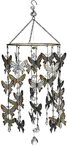 Butterfly Mobile Wind Chime Mail order Home Garden 27.5 Height 8 Decor Inch Low price