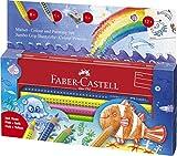 Faber-Castell 110908 - Estuche escolar mundo acuático con 8 ecolápices Jumbo Grip, ecolápiz de grafito, afilalápices y 12 adhesivos, multicolor