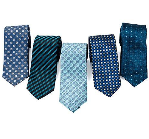 Formal Ties for Men - 5 Men's Neckties And 2 Classy Tie...