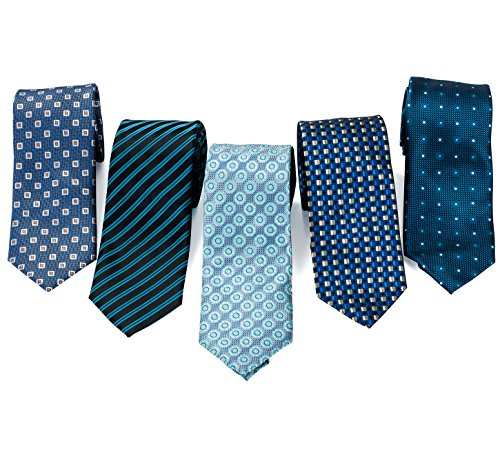 Formal Ties for Men - 5 Men's Neckties And 2 Classy Tie...