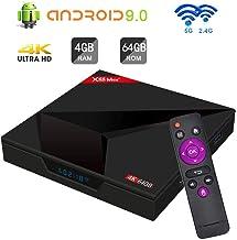 Android 9.0 TV Box SAMMIX X88 MAX+ RK3328 4GB+64GB Quad Cortex-A53 2.4G+5G WiFi /BT4.1/4K/3D Smart TV Box WiFi Media Player
