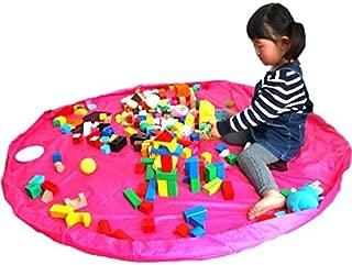 プレイマット/マット/おもちゃ/おままごと/ビーズ/お片付け/簡単/収納/軽量/耐水/大型/150cm (ピンク) DOG CAMPER