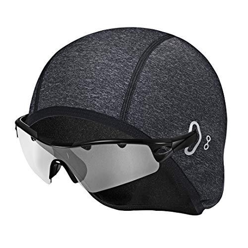 Collen Berretto da ciclismo, Cappellini di lana da ciclismo da uomo, Antivento, Traspirante, Elasticizzato, perfetto per equitazione, sci, corsa