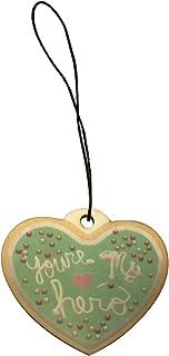 You're My Hero Sprinkle Cookie Movie Video Game Parody Engraved Printed Wooden Rear View Mirror Car Charm Dangler