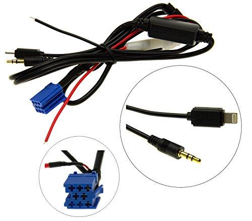Auto Radio AUX adapterkabel mini ISO 8 pol pin stekker voor Apple iPhone