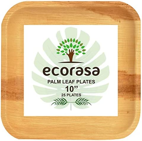 ecorasa Areca Palm Leaf Plates Eco friendly Bio degradable Disposable plates Elegant and Sturdy product image