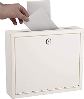 AdirOffice Multi Purpose Mail Box with Lock - Heavy Duty Drop Box - Commercial Suggestion Box -Wall Mountable Safe and Sec...