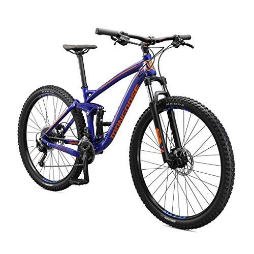 Mongoose Salvo Trail Mountain Bike, 9-Speed, 29-inch Wheel, Mens Medium, Blue (M22350M10MD-PC)