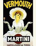 Vermouth Martini Vintage Advertising Art Print 11 x 14 Unframed Poster Print - Art Wall Decor