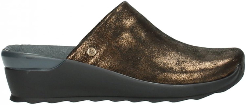 Wolky Comfort Clogs Go - 60361 Kupfer metallic Leder - 41