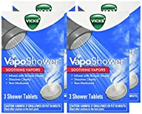 Vicks VapoShower, 3 tablets, (Pack of 4)