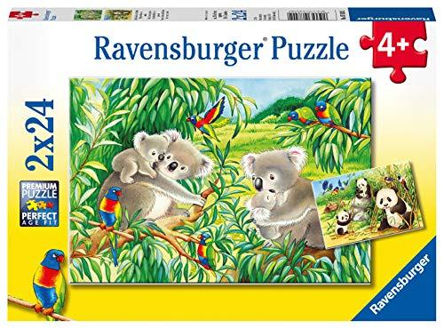 Ravensburger Italy Dolci Koala e Panda Puzzle, 2x24 Pezzi, Colore Multicolore, 07820