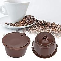 コーヒーカプセル、無毒で安全で耐久性のある環境に優しいコーヒーフィルターカップ、コーヒーコーヒーマシンコーヒー愛好家のための(Brown, black, 6)