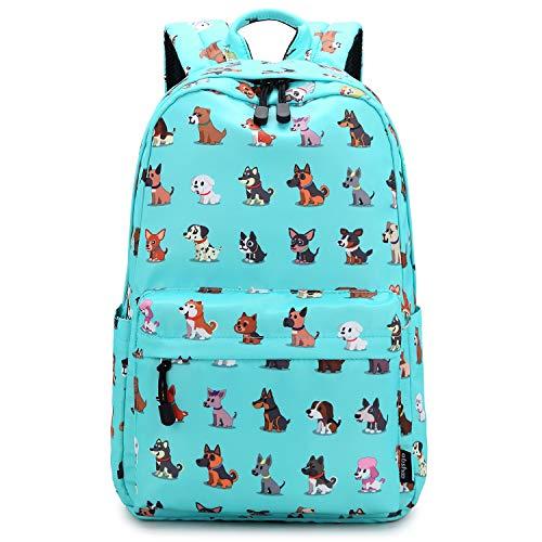 Abshoo Cute Lightweight Dog Backpack for Girls and Boys Kids School Backpacks (Dog Teal)
