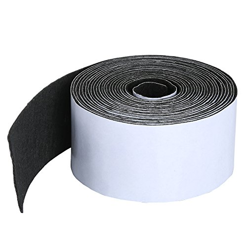 Pllieay 1 Pack Self Adhesive Felt Tape Polyester Felt Tape Furniture Felt Strips 1.96 inch x 0.04 inch x 14.7 feet for Furniture and Hard Surfaces