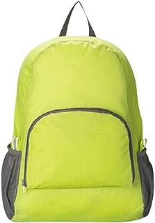 Men Women Backpack Solid Waterproof Nylon Bag Large Capacity Shoulder Bag Collapsible Portable Travel Backpack