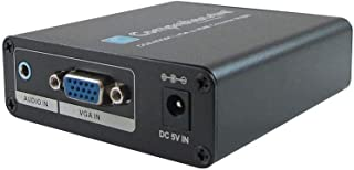 Comprehensive VGA with Stereo Audio to HDMI Converter - 4K@60 (YUV420) - Functions: Signal Conversion - VGA - USB - Audio Line in