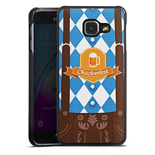 DeinDesign Cover kompatibel mit Samsung Galaxy A3 (2016) Lederhülle Leder Case Leder Handyhülle Oktoberfest Lederhose Bier