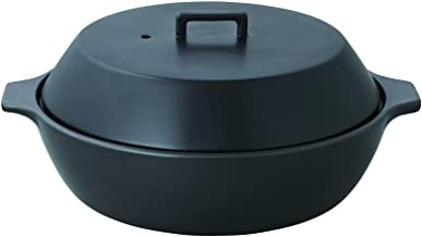 KAKOMI IH Donabe 2.5L Traditional Japanese Clay Pot - Steaming, Simmering, Stewing, Suitable for various cooking methods b...