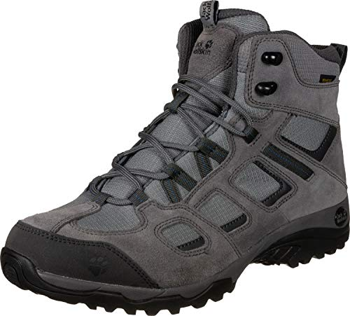 Jack Wolfskin Herren Vojo Hike 2 Texapore MID M Wasserdicht Trekking-& Wanderstiefel, Grau (Tarmac Grey 6011), 40.5 EU