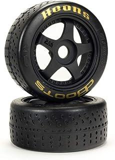 "ARRMA DBoots Hoons 42/100mm Gold Belted RC Tires Mounted on 2.9"" 5-Spoke 17mm Hex Wheels (Set of 2): ARA550071,Black"