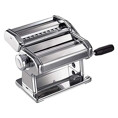 N&W Manual Noodle Machine Split Pasta Press Household Manual Pasta Machine Pressure Noodle Maker DIY Noodles Enjoy Pasta Time (Color : Silver Size : 20x13x15cm)