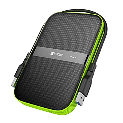 Silicon Power External Portable Hard Drive Rugged Armor Shockproof Water-Resistant