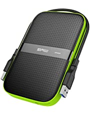 Silicon Power harici sabit disk Armor A60, 5 TB, darbeye dayanıklı, USB 3.0, PC, Mac, Xbox ve PS4 için, siyah
