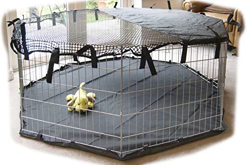 Speedwellstar - protección solar Parasol por de 8 Lados para Mascotas Ligeras, cubrir, Sombrilla, jaula no incluida