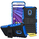 Moto G4 Play Funda, FoneExpert® Heavy Duty Silicona híbrida con Soporte Cáscara de Cubierta Protectora de Doble Capa Funda Caso para Motorola Moto G4 Play