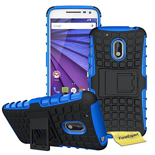 Moto G4 Play Funda, FoneExpert Heavy Duty Silicona híbrida con Soporte Cáscara de Cubierta Protectora de Doble Capa Funda Caso para Motorola Moto G4 Play